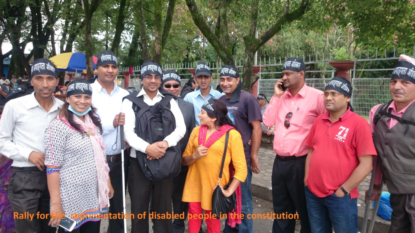 Rally for the representation of Disabled People in Constitution
